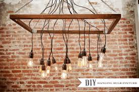 Hanging Bulb Chandelier Diy Chandeliers That Will Light Up Your Day