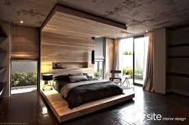 concrete ceiling modern bedroom blinds for home design ideas and warm with wood
