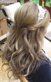 wedding hair half up half down with headband perfect way to