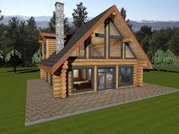 one story log cabin floor plans kitchen one story log house floor plans single with porches home