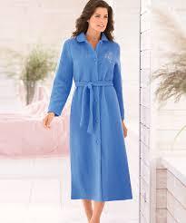 robe de chambre courtelle robe de chambre en maille courtelle 107 cm bleu femme damart