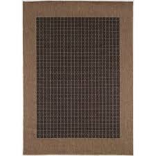 Checkered Area Rug Ariadne Checkered Field Black Cocoa Indoor Outdoor Area Rug