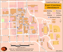 University Of Utah Campus Map by East Central University