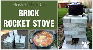 How To Make A Fire Pit With Bricks - build a brick rocket stove mom with a prep