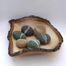 felted rocks pebbble stones wool felt home decor natural zoom
