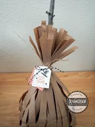 denami design blog halloween broom treat bag