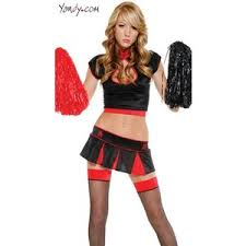Girls Cheerleader Halloween Costume Gothic Cheerleader Costume Naughty Goth Cheerleader