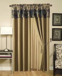 deerfield 4pcs deer cabin lodge tapestry window curtain drape set