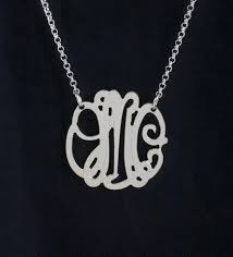Sterling Silver Monogram Bracelet Mini Monogram Necklaces Personalized Jewelry Initial Obsession