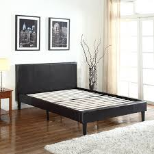 amazon com deluxe espresso brown bonded leather platform bed with