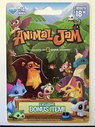 animaljam gift card national geographic animal jam online card 10