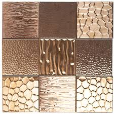 Kitchen Backsplash Stainless Steel Tiles by Metal Etched Copper Stainless Steel 4x4 Tile