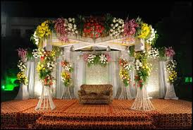 indore events management beautiful flower stage indore