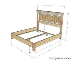 Farmhouse Bed Frame Plans Fancy Headboard For Bed King Size Headboard Dimensions Plans