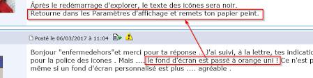 ecran bureau retourné icone de bureau sous windows 10