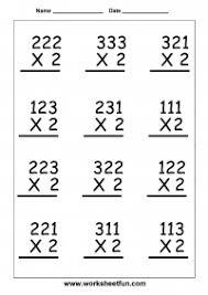 3 digit by 1 digit multiplication worksheets multiplication 3 digit by 1 digit six worksheets free