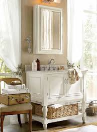 sweet pottery barn bathroom with startling accent