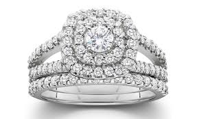 diamond bridal sets 1 00 cttw diamond bridal set groupon goods