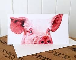 pig greeting card etsy