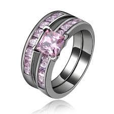 black and pink wedding ring sets aliexpress buy women black gold color wedding ring sets