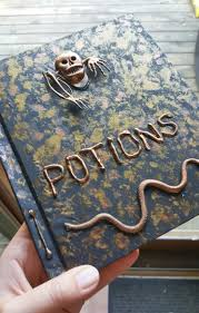 potions book tutorial halloween or harry potter decor