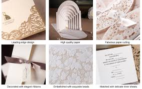 Invitation Cards Online Purchase Heart Style Tri Fold Invitation Cards Set Of 50 114032376