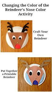 free printable reindeer activities changing the color of the reindeer s nose color activity homemade