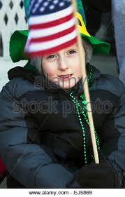 child at st patrick u0027s day parade yonkers new york stock photo