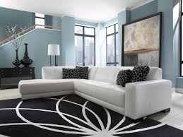 picturesque white vinyl l shapes tufted sectional with black