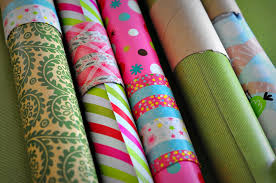 modern wrapping paper rolls of wrapping paper royalty free stock image image 27157906