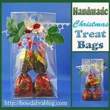 bags of christmas bows handmade christmas gifts make treat bags with punchinello ribbon bows
