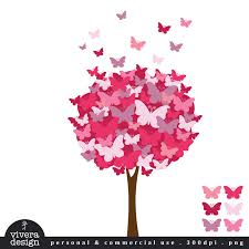 clip the butterfly tree pomegranate pink