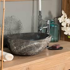 fontaine en pierre naturelle vasque à poser en galet de rivière naturel ronde d 40 cm
