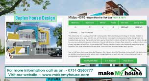 duplex house design by make my house duplex house design and