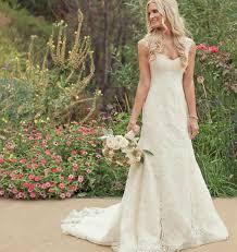vintage wedding dresses with cap sleeves beach wedding gowns wed