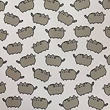 pusheen the cat gift wrap wrapping paper co uk kitchen home