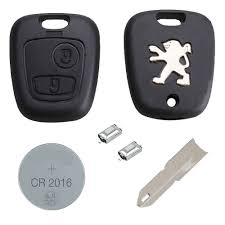 peugeot diy repair kit replacement 2 button remote amazon co uk