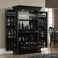 corner bar cabinet black trendy black wooden corner bar units with expandable doors in