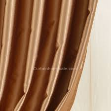 Brown Gold Curtains Artificial Fiber Golden Brown Insulated And Thermal Blackout