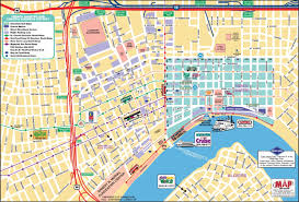 Map Of Hotels In New Orleans by New Orleans French Quarter Map With Map French Quarter Map
