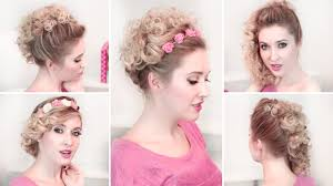 easy updo hairstyles for everyday curly medium long hair