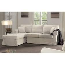 canapé d angle fixe canapé d angle fixe droit ecru jaipur maison et styles