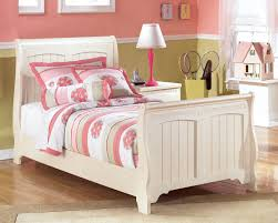 White Leather Sleigh Bed Bedroom Ashley Furniture Sleigh Bed Queen Headboard And Frame