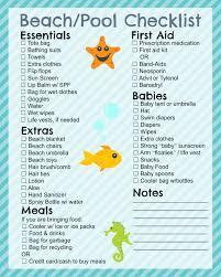 printable beach checklist in the playroom