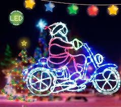 Christmas Rope Light Outdoor by Led Rope Light Motorbike Santa Multi Colour Flashing Christmas