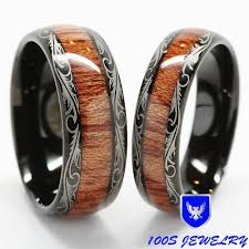 mens wedding bands wood inlay men women s tungsten carbide wedding band wood inlay comfort fit