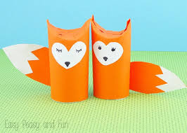 Paper Roll Crafts For Kids - toilet paper roll fox craft easy peasy and fun