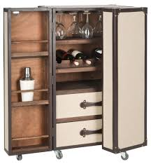 Trunk Bar Cabinet Fox9511a Bar Carts Furniture By Safavieh