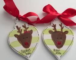 reindeer ornament etsy