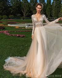 wedding dresses cheap online discount v neck sleeve wedding dresses bling rhinestone